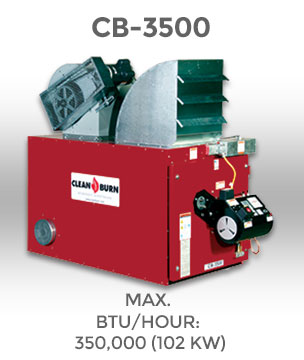 Clean Burn CB-3500 - waste oil furnace