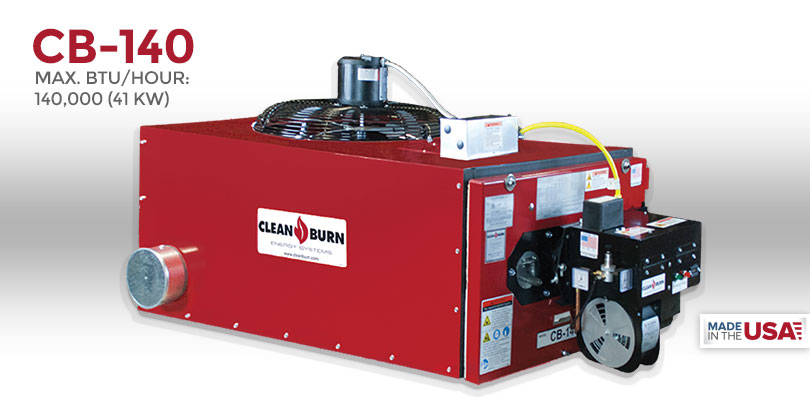 Cb 140 Clean Burn 174 Waste Oil Heater Waste Oil Furnace