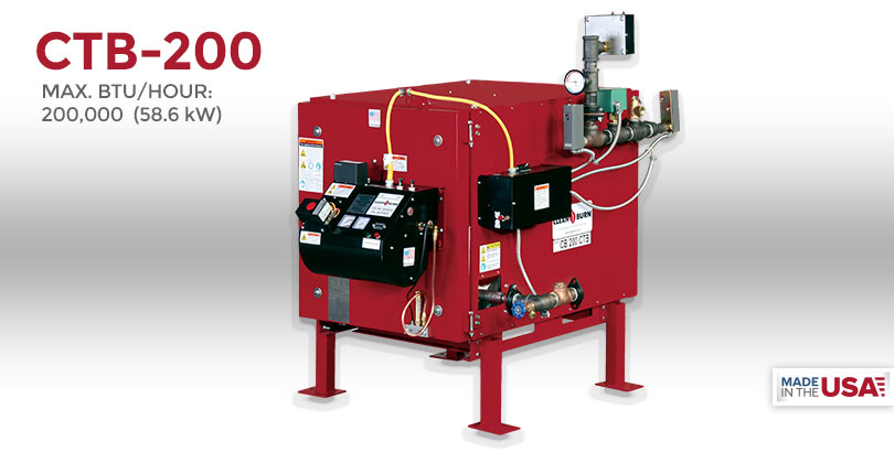 CTB-200, Waste Oil Furnace, Used Oil Furnace, Furnace, Clean Burn, Model CB-200, 200,000 BTU/hr.